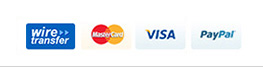 wire transfer, MasterCard, VISA, Paypal